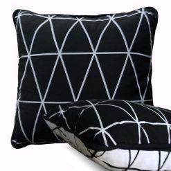 Avioni Cotton Seat Cushion with Filler Export Quality- 40 cm X 40 cm ( 16×16 inch)- Black