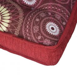 Avioni Luxury 3D Printed Throw  Cushion X- Large In High Quality Chenille- Red