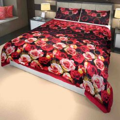 Microfiber Filling Heavy Weight Quilt(Razai) For Winters Royal English Roses
