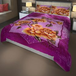 Double Bed Soft Mink Blankets In Purple For Winters