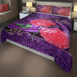 Double Bed Soft Mink Blankets Purple N Pink For Mild winters