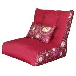 Bean Chair with Beans | XXL Bean Bag | Back Cushion Included | BIGMO