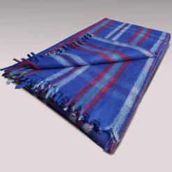 Wool Blankets Online  Premium Tartan Design  Single Bed Blue shade Multicolour