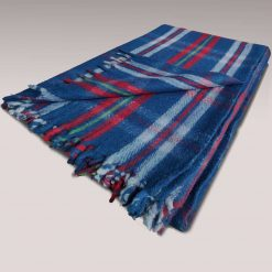 Blanket for Winter   Wool Tartan Design Single Bed Red- Blue Shade Multicolour
