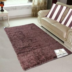 Steel The Deal-Fur Rug For Living Room Mahroon Multicolour By Avioni 92×152 cm 3×5 Feet