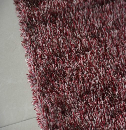 Fur Rug For Living Room|Red With White Shade|By Avioni|92×152 cm|3×5 Feet