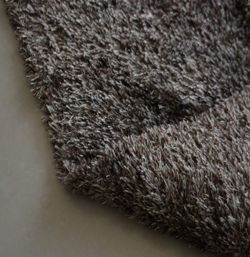 Fur Rug For Living Room|Brown With White Shade|By Avioni| 92×152 cm|3×5 Feet
