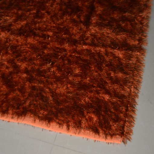 Fur Rug For Living Room Orange With Gray Shade By Avioni  92×152 cm 3×5 Feet