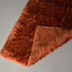 Fur Rug For Living Room|Orange With Gray Shade|By Avioni|122×182 cm|4×6 Feet