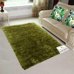 Fur Rug For Living Room|Olive Green|By Avioni|92×152 cm|3×5 Feet