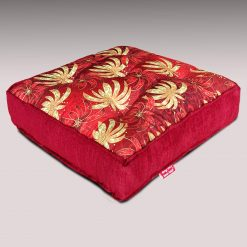 Throw  Cushion | XL | Avioni Luxury 3D Printed | High Quality Chenille- Red