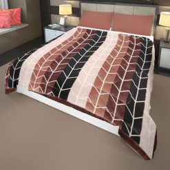 Brown Quilt Gradients  Double Bed Quilt( Rajai)  For Winters  Microfiber Filling Heavy Weight  Avioni