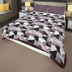 Flannel Quilt   Double Bed Quilt( Rajai)  For Winters Microfiber Filling Heavy Weight-English Colours Diamonds