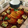 Halloween Special-Avioni 100% Bio-Washed Cotton Table Mats With Runner easy to wash in gift packing ( Set of 7)