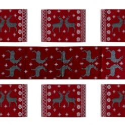 Avioni 100% Bio-Washed Cotton Table Mats With Runner easy to wash in gift packing ( Set of 7)