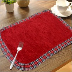 Avioni Cotton-Chenille Table Mats Reversible Easy to wash in Gift Packing (Set of 6)
