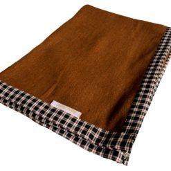 Woolen Blankets – Brown Bonfire – Check Border – MSF