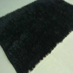 Fur Rug For Living Room|Black|By Avioni|92×152 cm|3×5 Feet