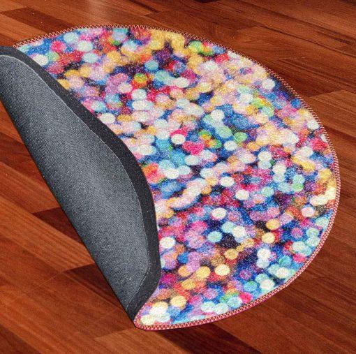 Avioni Carpet For Kids Room – Round Rug – Drops