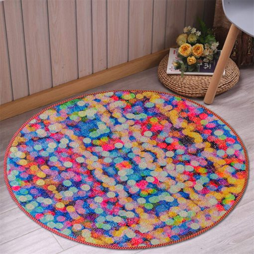 Avioni Carpet For Kids Room – Round Rug – Drops
