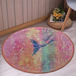 Avioni Carpet For Kids Room – Round Rug -Pink Mermaids