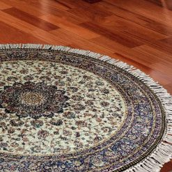 Avioni Persian Carpets For Living Room – Round -Beige