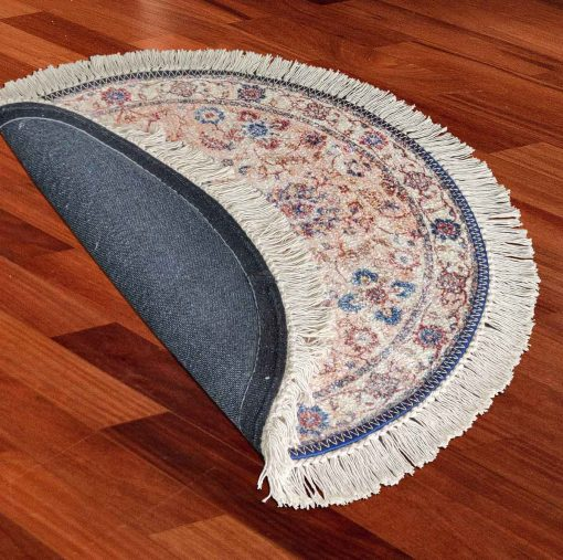 Avioni Persian Carpets For Living Room – Round -Blue with Multicolour