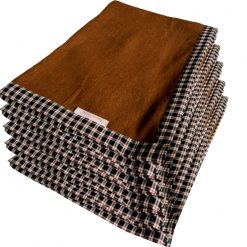 Blanket Combo – Wool Blankets Brown Bonfire  Check Border- set of 5 Blankets – from MSF