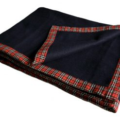 Wool Blankets For Sale|Blue Bonfire Red & Black Check Border|5 Blankets Combo|MSF