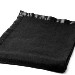 Woolen Blankets – Black – Ultra Satin On Borders – MSF