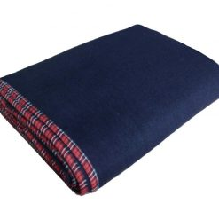 Blanket Combo – Wool Blankets Blue Bonfire  Check Border- set of 5 Blankets – From MSF