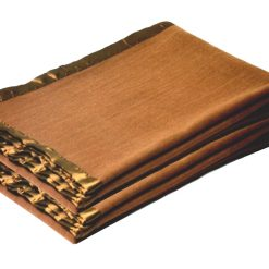 Buy Woolen Blankets – Camel With Ultra Satin On Borders- set of 2 blankets – MSF @ Combo Price