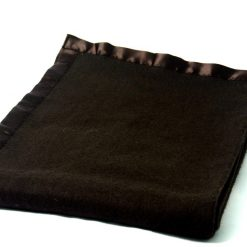 Blanket Combo –  Wool Blankets Coffee With Ultra Satin On Borders- set of 5 Blankets