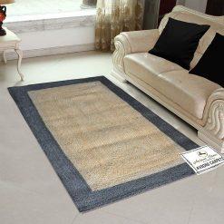 Jute Handmade Braided Rugs| Gray Border Area Rug|Avioni- Premium Collection-92×152 cm