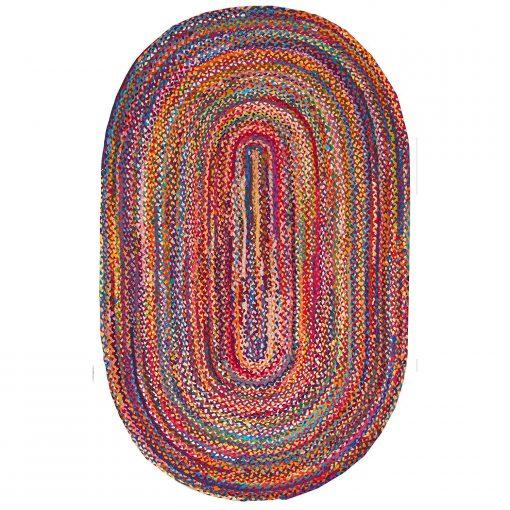 Cotton Chindi Oval Carpets – Braided Area Rugs – Round Rug  Handmade-  Avioni