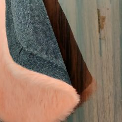 Shaggy Carpet  –  Premium  Fur – 60 cm Round – Avioni Carpets- Baby Pink Colour