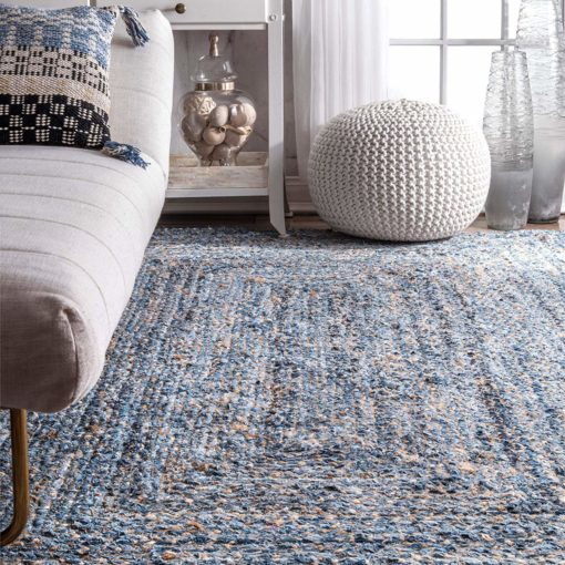 Jeans With Jute Handmade Braided Area Rugs|Avioni-  Premium Collection-92×152 cm