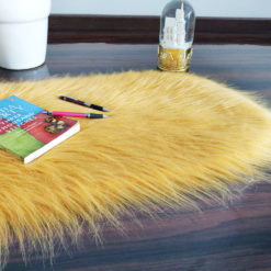 Shaggy Carpet – Oval Shaped Rug –  Premium Long  Fur – 88X40 cm Oval Shape – Avioni Carpets- Brown Colour (1+1- set of 2 )