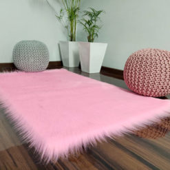 Soft Shaggy Rugs  – Fluffy Rug  –  Pink Premium Long Fur – Avioni Carpets