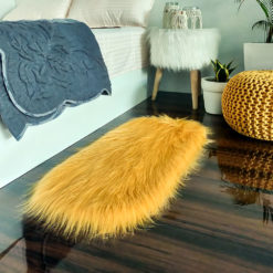 Shaggy Carpet –  Premium Long  Fur – 88X40 cm Oval Shape – Avioni Carpets- Brown