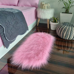 Shaggy Carpet –  Premium Long  Fur – 88X40 cm Oval Shape – Avioni Carpets- Pink