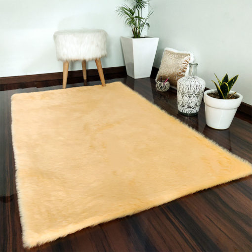 Soft Shaggy Rugs  – Fluffy Rug  –  Peach Premium Fur – Avioni Carpets