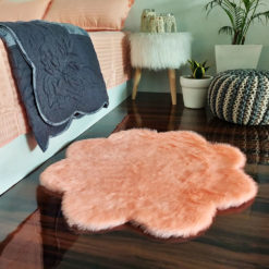 Shaggy Carpet –  Premium  Fur – 75 cm Flower – Avioni Carpets- Pink Colour