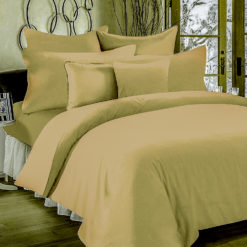 Double Bed Sheet 100% Cotton Bio-Washed for comfort – Khakhi Brown Colour , 180 Tc  By Avioni