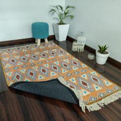 Avioni Faux Silk Carpet Ethnic Premium Boho Living Room Rug