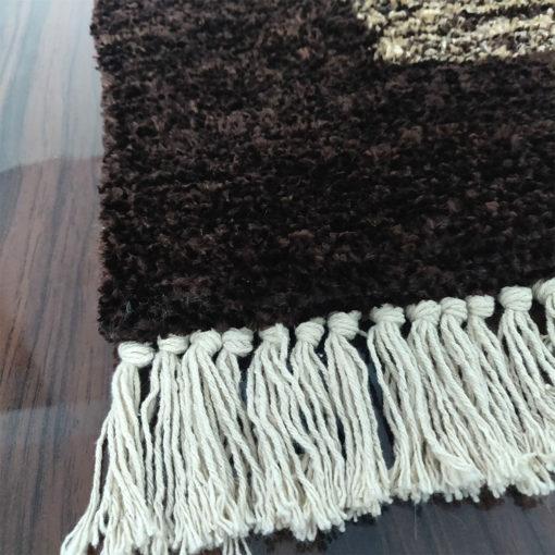 Avioni Carpet Silk Neo Collection- Luxury Modern Border Tiedye Design – Brown
