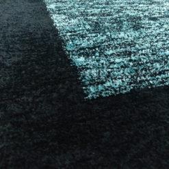 Avioni Carpet Silk Neo Collection- Luxury Modern Border Tiedye Design – Aqua and Black
