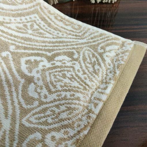 Avioni 100% Cotton Premium & Luxury Soft Linen Bath Towels in White Golden Finish