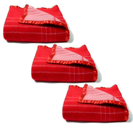 Buy 2 Get 1 Free – Avioni Home Very Warm Premium 80 Percent Wool Red Wool Blanketsm