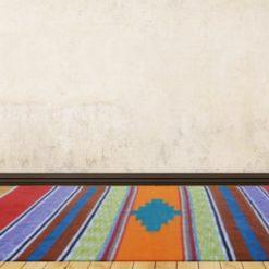 Avioni Handloom Cotton and Chenille Durries Assorted Colours- 122 cm x 183 cm (4 x 6 feet)